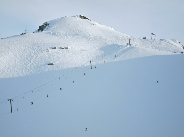 And lastly, one of our final runs. Heading up to 7th Heaven on the T-bar and no,I wasn't wearing a T-bar.