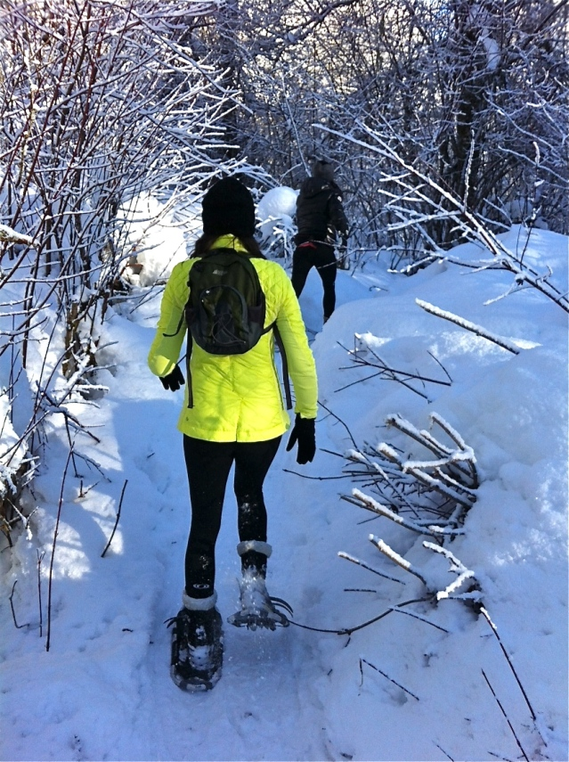 Me & Shannon trekking up a hill. Puff puff puff...
