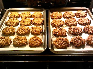Cookies in the oven. Smells good!