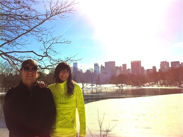 Just cruising around Central Park. No biggie.